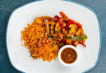 Chicken Fajita + Spanish Rice