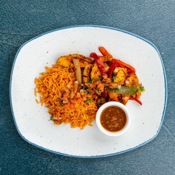 Chicken Fajita Spanish Rice