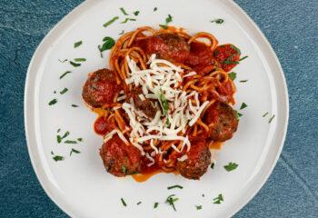 Spaghetti + Lean Meatballs